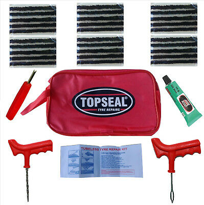Car Van Motorcycle Tyre Tubeless Puncture Repair Kit Emergency Tire Kit