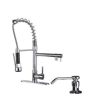 Single Handle  Kitchen Faucet Pull Down Sprayer Swivel Sink Mixer Tap Chrome1