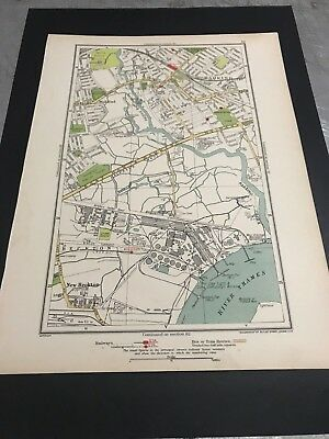 Antique Double Sided Map of London- 1937