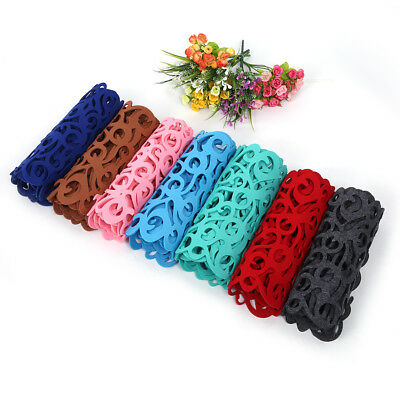 Dinner Table Runner Flowers Hollow Out Home Dining Room Felt Mat Pad Decoration