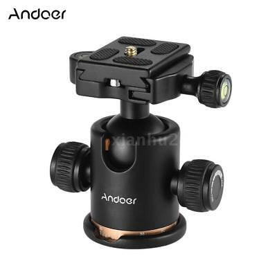 "Andoer Camera Tripod Ball Head Ballhead with Quick Release Plate 1/4"" Screw DSLR"
