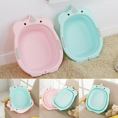 Plastic Portable Baby Cartoon Washbasin Face Foot Bath Wash Outdoor Child Care