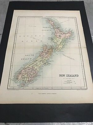 Antique Map of New Zealand- 1906