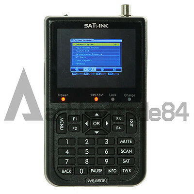 Satlink WS-6906 Digital Satellite Finder FTA DVB-S Sat Finder 3.5'' Signal Meter