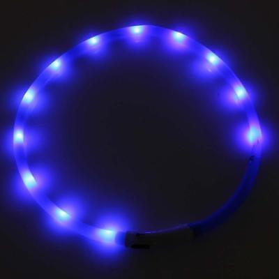 Waterproof Rechargeable USB LED Flashing Light Band Security Pet Dog Collar C HS