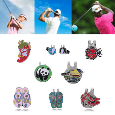 Personalized Various Golf Ball Marker With Magnetic Hat Clip Clamp Accessories