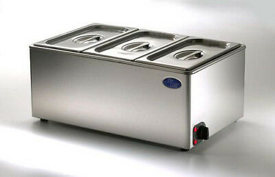 Electric Bain Marie Wet & Dry Heat 1/1GN - Ceonline OLGBM23 - 3 x Third GN pans