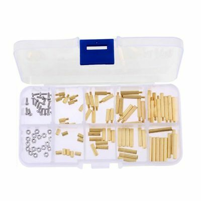 3X(120pcs M2 Male Female Brass Spacer Standoff Screw Assortment Kit(Brass M F8A2