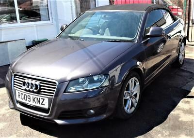 2009 Audi A3 Cabriolet 2.0TFSI Sport DAMAGED REPAIRABLE SALVAGE , DRIVES