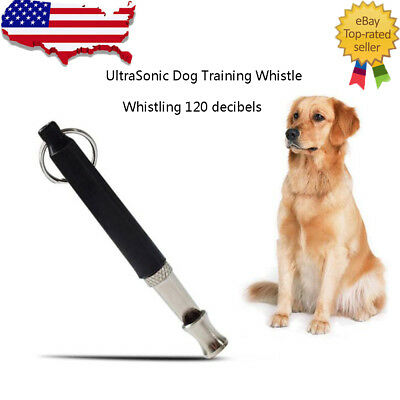 Pet Dog Training Whistle UltraSonic Supersonic Sound Pitch Adjustable Anti Bark