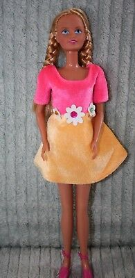 "Gorgeous Rare Vintage Sindy Doll Blonde Flower Outfit And Shoes 90""s"