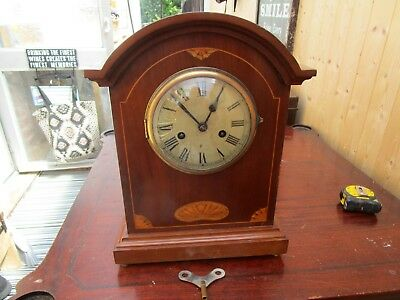 Large Antique Inlaid Bracket Clock. 15Ins Tall.