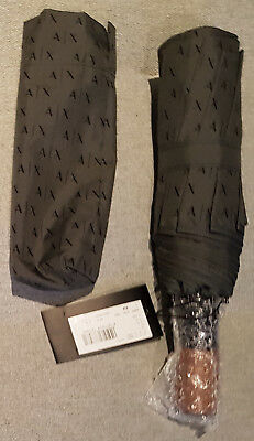 Armani Exchange Mens Umbrella in Gunmetal Grey with Auto Open Button