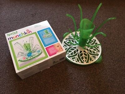 Munchkin Sprout Drying Rack For Bottles Cups & Breast Pump Accessories Boxed