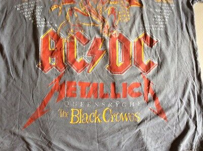 Monsters Of Rock 1991 Vintage T Shirt Anni 90 AC/DC METALLICA With City Of Tour