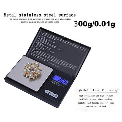 300g/0.01g High Precision Digital Electronic LCD Scale Jewelry Gold Reloading
