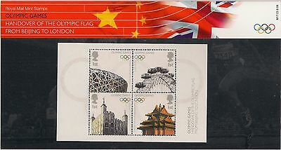 GB 2008 Olympic Games Handover Of Flag Beijing To London Presentation Pack M17
