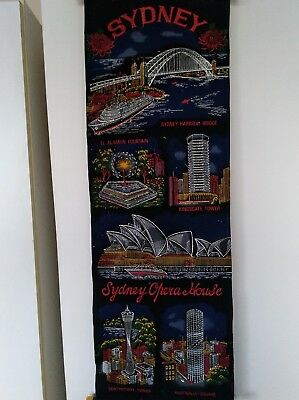 SYDNEY Scenic Fabric Wall Scroll Poster
