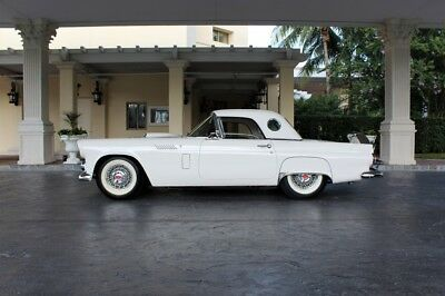 Thunderbird  1956 Ford Thunderbird   325 Miles Colonial White Convertible 312 Automatic