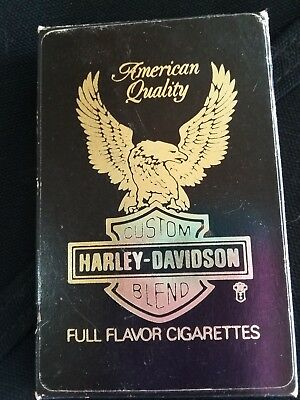 Harley Davidson cigarettes with matching playing cards