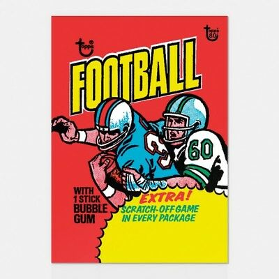 2018 Topps 80Th Anniversary Wrapper Art Card #66 1975 Football