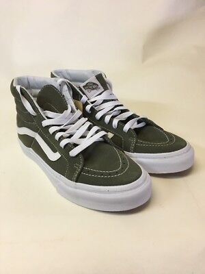 b7f1b614a4 VANS Sk8 Hi Slim (Suede Canvas) Grape Leaf True White Skate Shoes WOMEN S