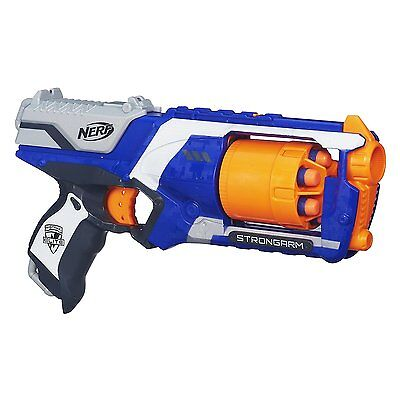 Nerf N-Strike Elite Strongarm Blaster Shoot Foam Dart Bullet 6 Round Gun Kid Toy