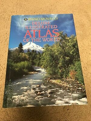 Vintage 1991 Rand McNally Deluxe Illustrated Atlas of the World Hard Cover