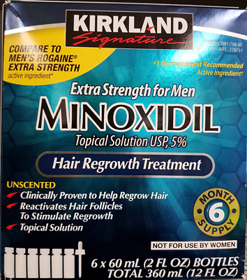 Kirkland Minoxidil 5% Extra Strength Men Hair Regrowth 6 months Supply