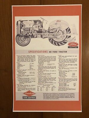 Vintage Ford Tractor Advertisement Poster Man Cave Gift Decor