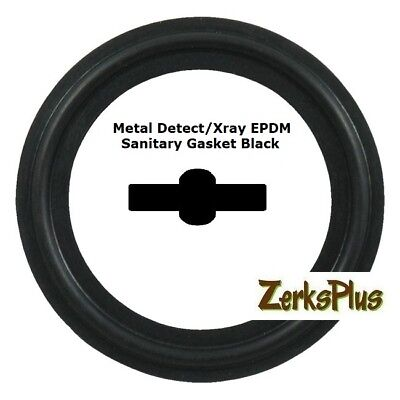 "Sanitary Gasket Tri Clamp Style 1"" Metal Detect/Xray EPDM Black Price for 1 pc"