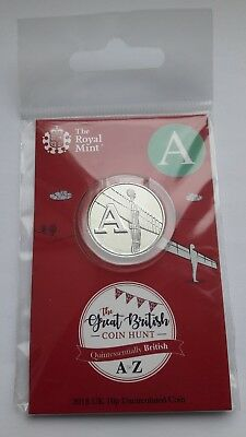 2018 Royal Mint 10P Ten Letter A - Angel Of The North Coin Hunt 1St Strike Pack