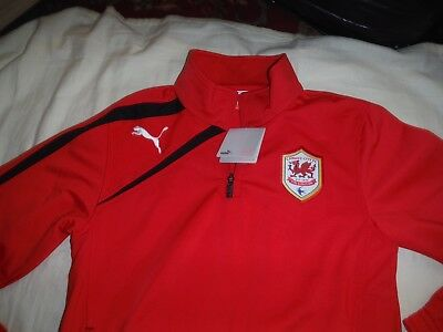 Cardiff City Football Club Training Top Puma New With Tags Size S Mens