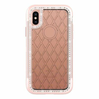 For iPhone X Case,3 IN 1 Luxury Bling Crystal Diamond Hybrid Heavy Duty Sho R4A1
