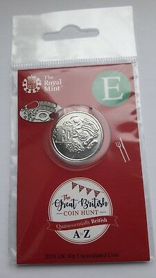 2018 Royal Mint 10P Ten Letter E - English Breakfast Coin Hunt 1St Strike Pack