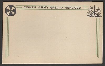 WWII Eighth Army Special Services Unused Postcard Free Shipping!