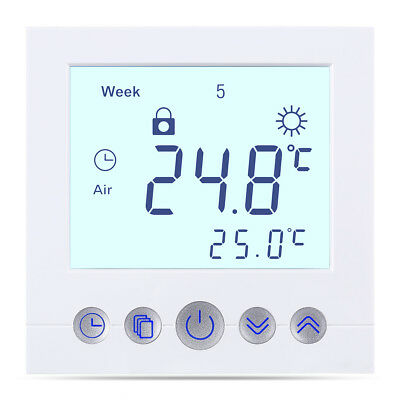 Digital LCD Raumthermostat Touchscreen Thermostat BYC16.H3 16A Weiß