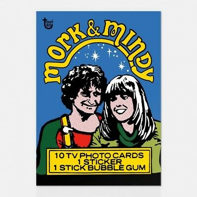 2018 Topps 80Th Anniversary Wrapper Art Card #67 1978 Mork & Mindy