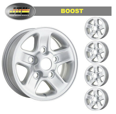 """7""""x16"""" Land Rover Defender Silver BOOST style Alloy Wheels Set of 5"""