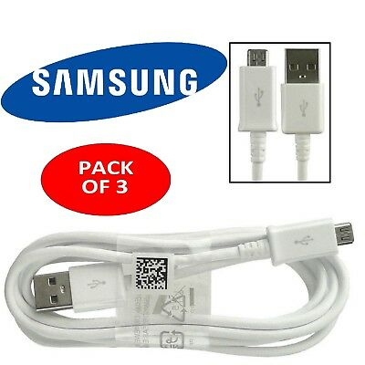 3 X Genuine Samsung Galaxy Phone S3 S4 S5 S6 S7 USB Charger Charging Cable