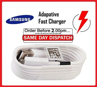 Genuine Original Samsung Galaxy A3 A5 J5 S8 S8+ S9 S9+ Fast Charger USB Cable