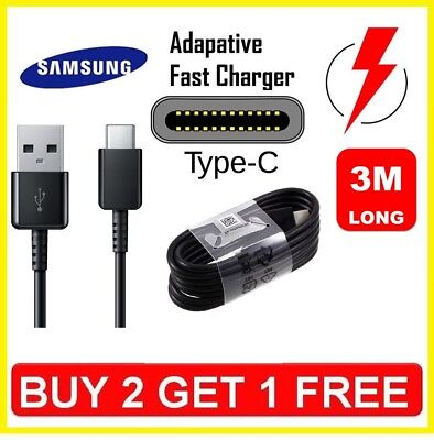 3M Original Samsung S8 S9 TYPE C Cable USB-C Fast Charger Genuine Data Sync Lead