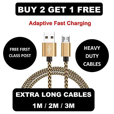 New Usb Sync & Charger Data Lead Cable For Samsung Galaxy S2/S3/S4/S5/S6/S7