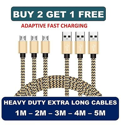 1M 2M 3M 4M 5M Micro USB Charger Cable Lead for Amazon Kindle Fire HD HDX Tablet