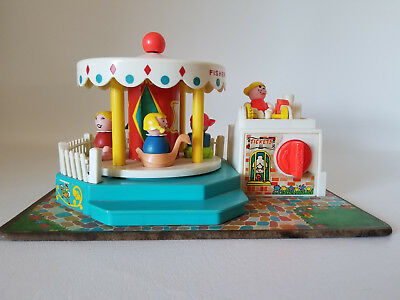 Vintage Fisher Price Merry Go Round #111 ~ 1972 ~ COMPLETE W/CORRECT PPL! WORKS!