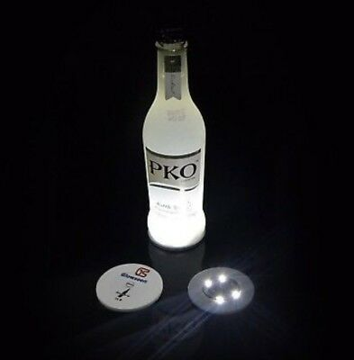 Bottle Light Glorifier Glow Wine Sticker LED For Coaster Cool WHITE 6Pcs PARTY
