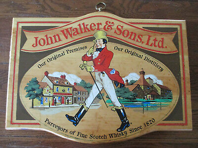 John Walker & Sons Ltd Distillery Fine Scotch Whiskey Since 1820 Wood Sign NY