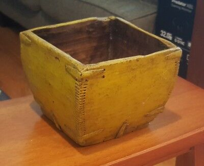 Antique Chinese Dovetailed Wood Grain/Rice Measure Container