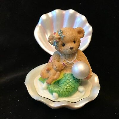 Cherished Teddies Mermaid With Shell #865087 - 2001 Adoption Center Exclusive