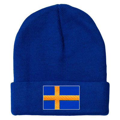 Sweden MyCountry Solid Knit Hat (Royal) - IceJerseys
